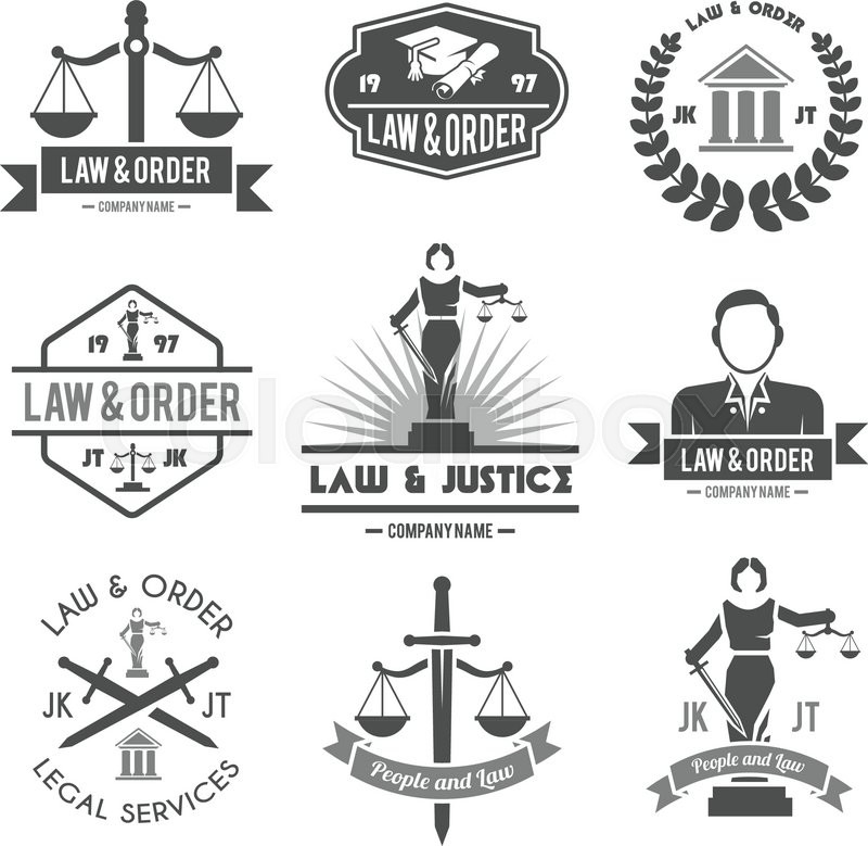 Law Order And Crime Preventing Lady Justice Symbols