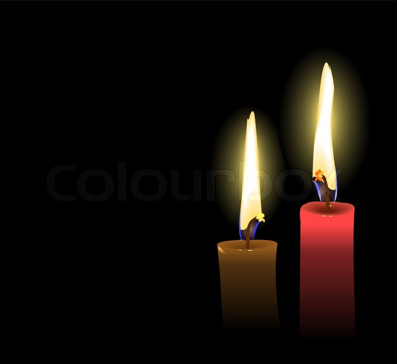 Realistic Vector Christmas Candles | Stock Vector | Colourbox
