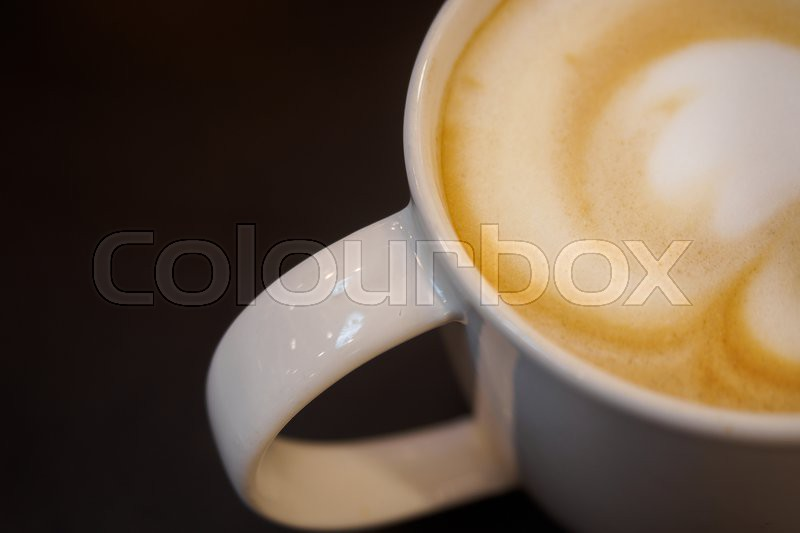Stock image of 'Cappuccino cup'
