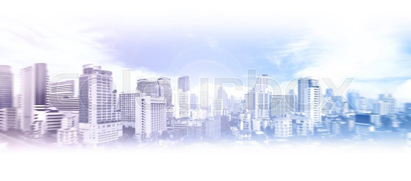Modern business city background image, stock photo