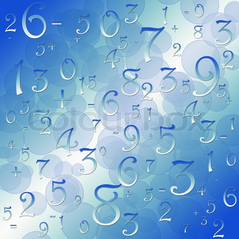 Maths numbers and signs on black background | Stock Photo ...