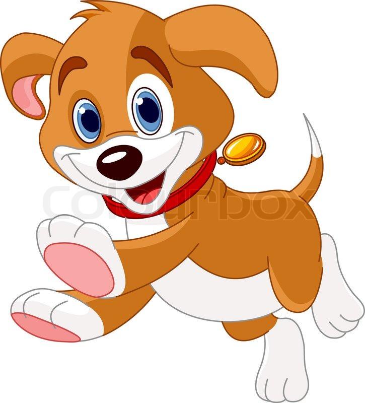 illustration of the cute fun puppy running stock vector colourbox rh colourbox com Puppy SVG Free Puppy Clip Art