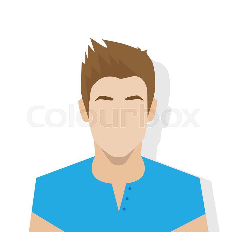 profile icon male avatar portrait casual person silhouette face flat