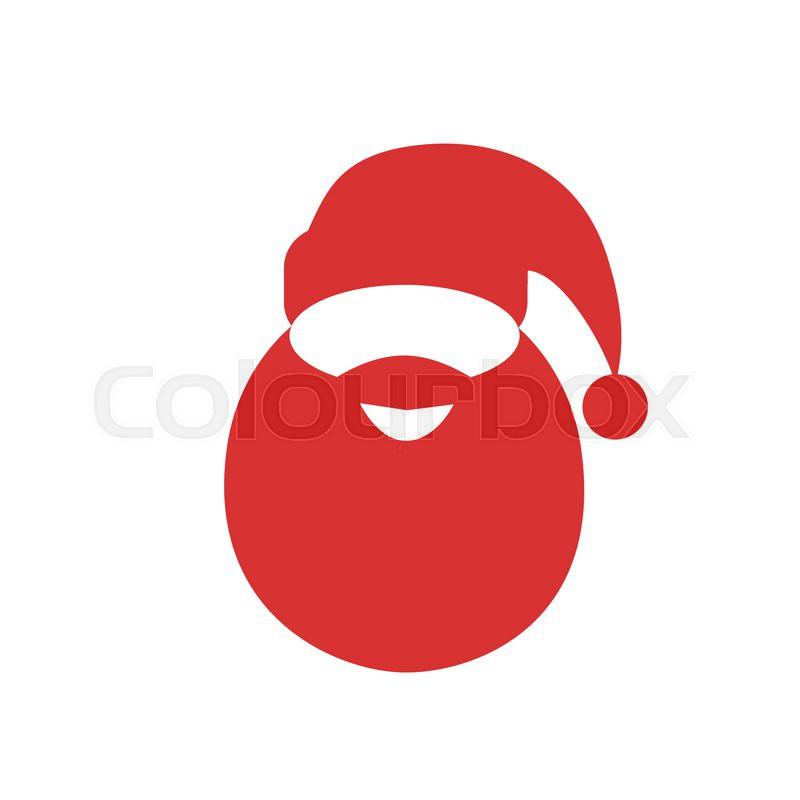 fd236de36b1 Santa claus red hat beard flat icon ...