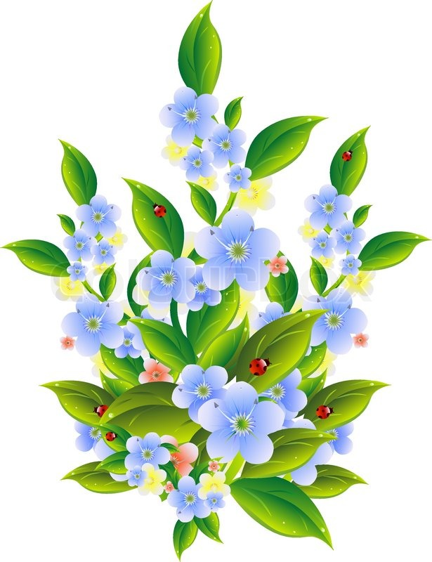 Blomster, clipart, blomst | stock vektor | Colourbox