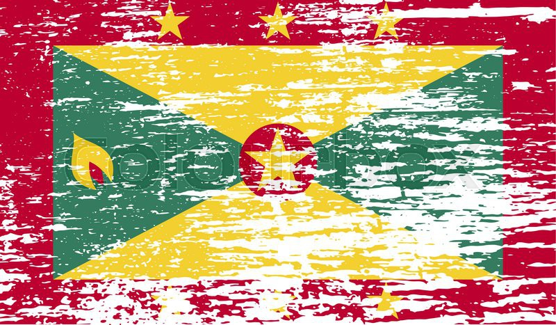Flag of Grenada with old texture      | Stock image | Colourbox
