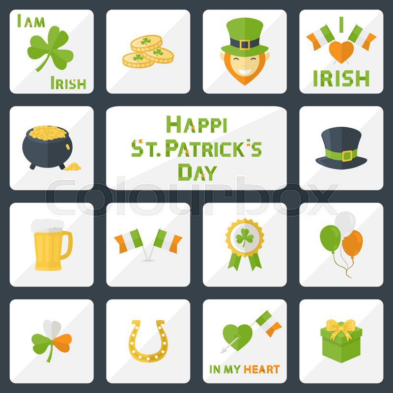Vector St Patricks Day Icons Set For Web Illustrations