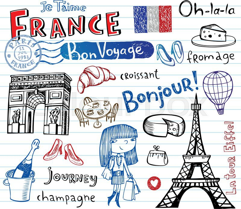 Free Comic Book Day France: Symbols Of France As Funky Doodles