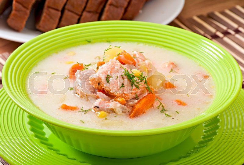 суп из лосося рецепт с фото