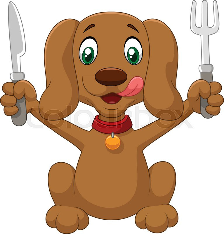 vector illustration of hungry dog stock vector