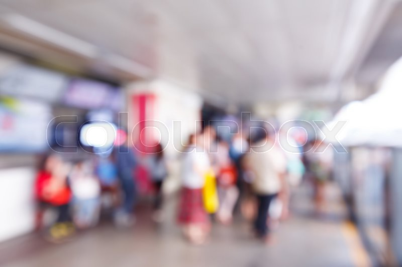 abstract blurry soft and out of focus people standing in train station stock photo colourbox. Black Bedroom Furniture Sets. Home Design Ideas