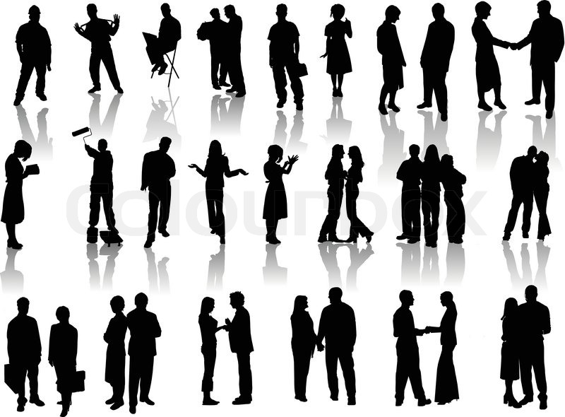 People Silhouettes Stock Vector Colourbox