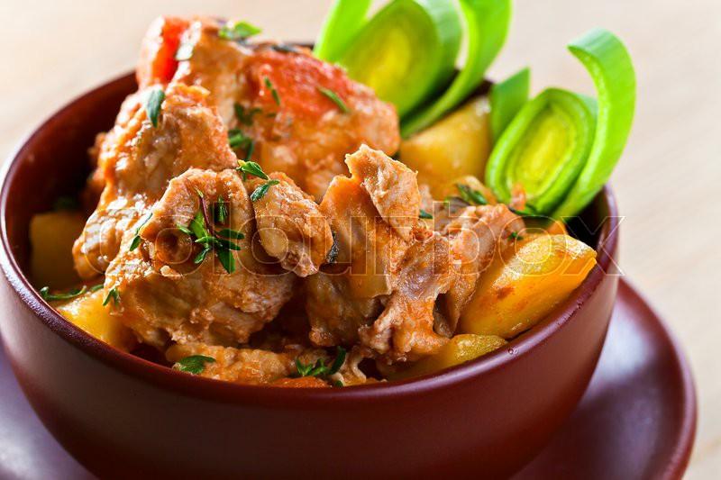 Homemade Irish Beef Stew with Carrots and Potatoes | Stock Photo ...