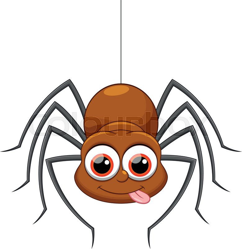 cute spider cartoon stock vector colourbox rh colourbox com cartoon spider web cartoon spider images