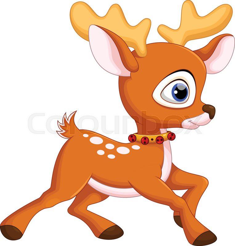 cute baby deer cartoon stock vector colourbox deer head clipart color deer head clip art images