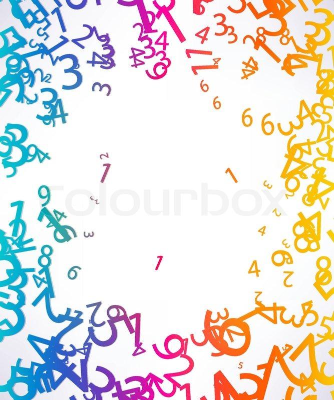 Background Cartoon Algebra Stock Vector Colourbox