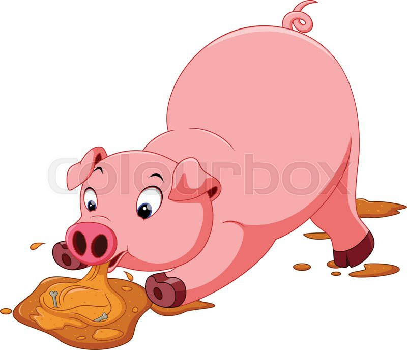 cute pig cartoon stock vector colourbox