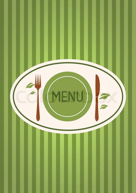 a simple menu cover design for a vegetarian restaurant stock