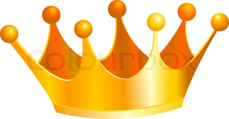 an illustration of a gold kings crown stock vector colourbox rh colourbox com king crown clip art black and white king crown clip art free