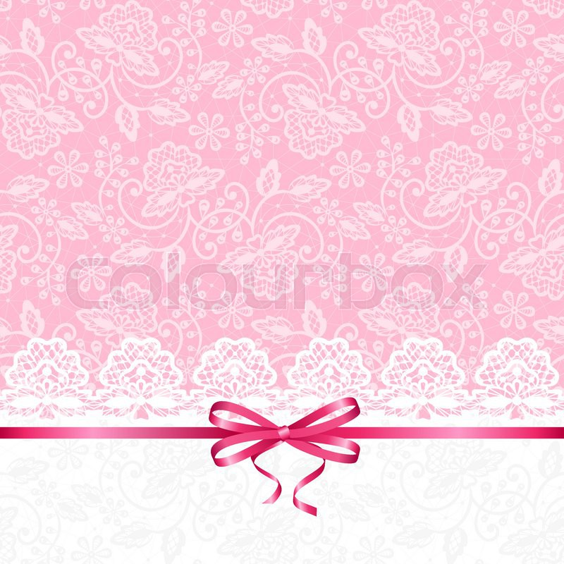 Wedding Or Baby Shower Invitation Or Greeting Card With