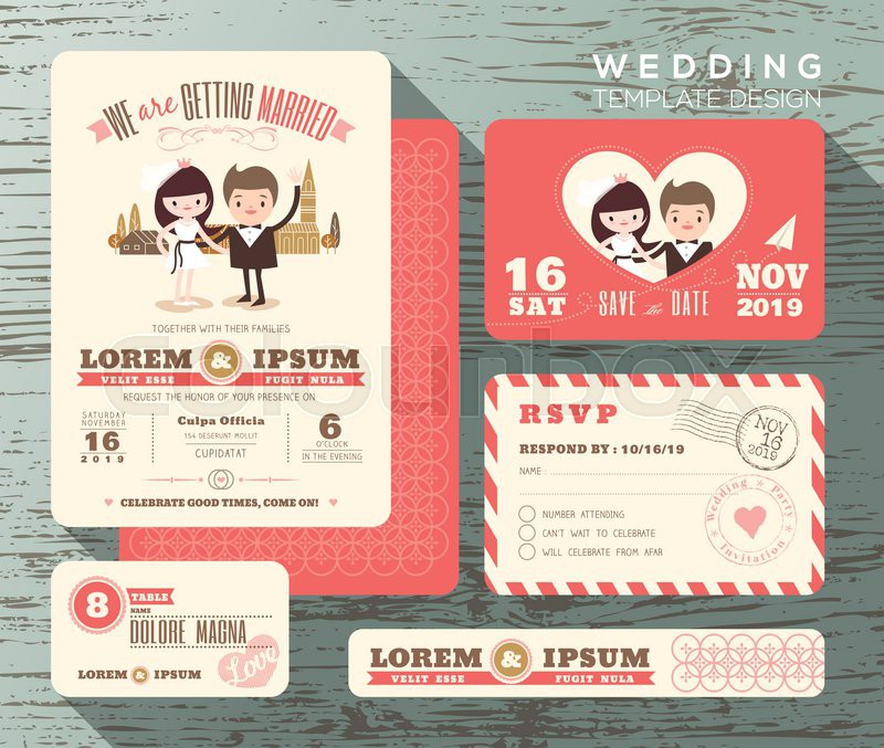 Cute Wedding Invitation Wording Samples: Cute Groom And Bride Couple Wedding ...