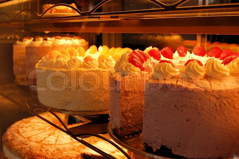 Big Size Wedding And Birthday Cakes In A German Bakery In Bad