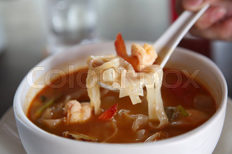 Spicy Prawn Soup Thai Spicy Prawn Soup With