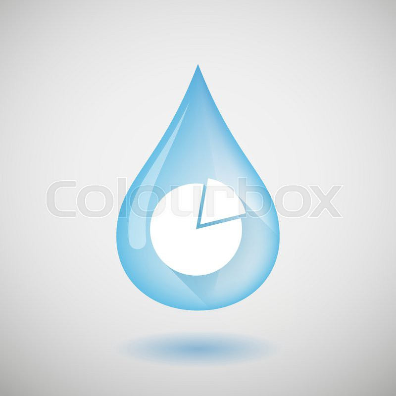 Illustration Of A Water Drop With A Pie Chart Stock Vector Colourbox