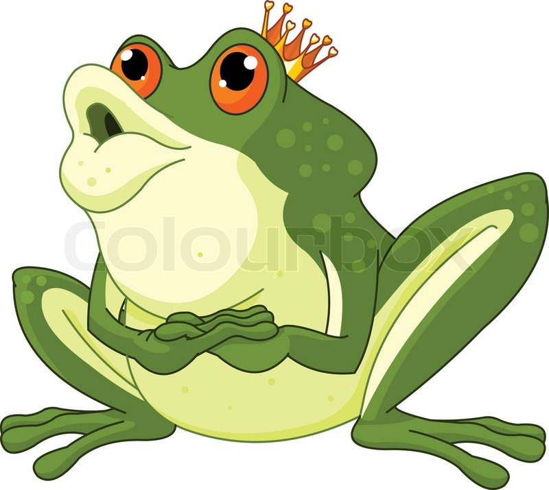 Stock vector of 'Illustration of Frog Prince Waiting To Be Kissed'