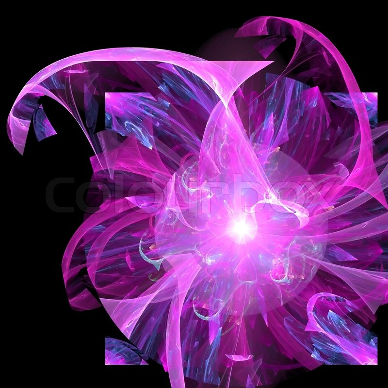 Black Graphic Background Abstract Background Purple Black Palette Raster Fractal Graphics Stock