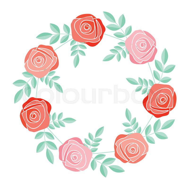 Decorative frame with rose flowers | Stock Vector