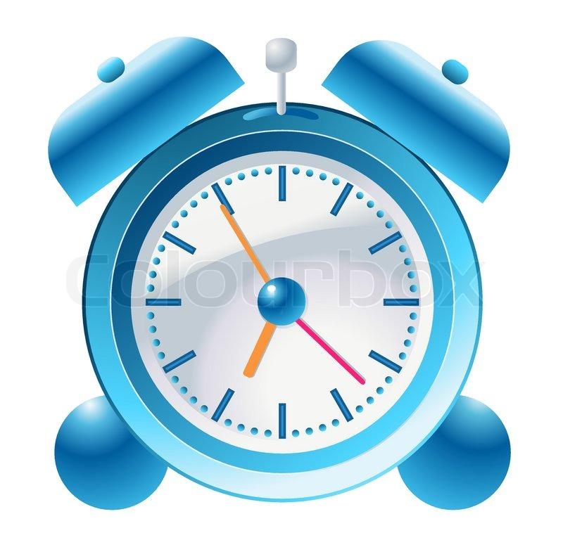Blue Cute Clock Drawing Stock Vector Colourbox