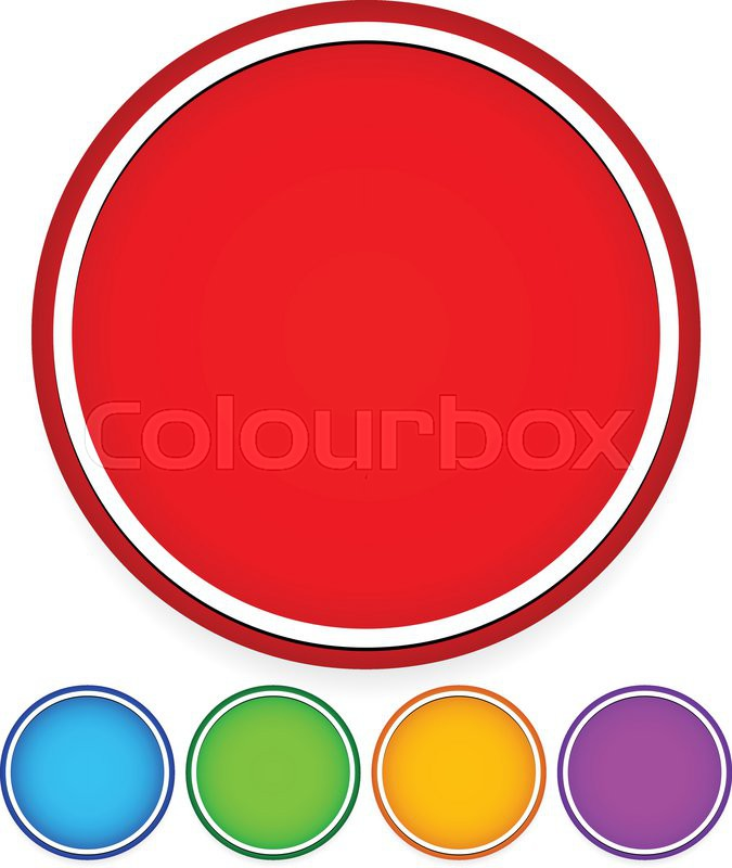Eps 10 Vector Illustration of Circle Graphics with blank space ...