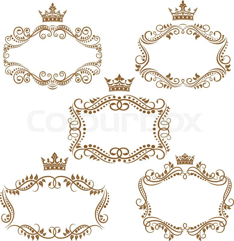 royal vintage brown borders and frames emphasizing the