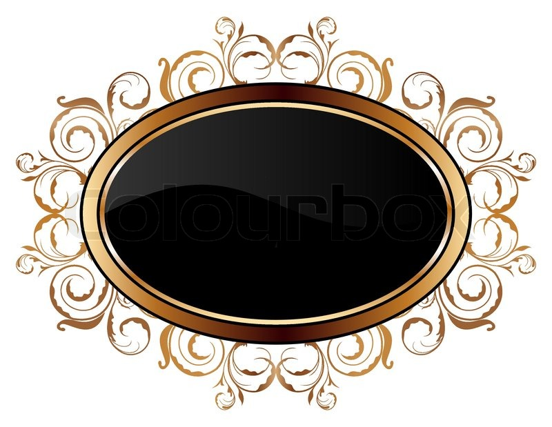 illustration of vintage gold floral frame vector stock