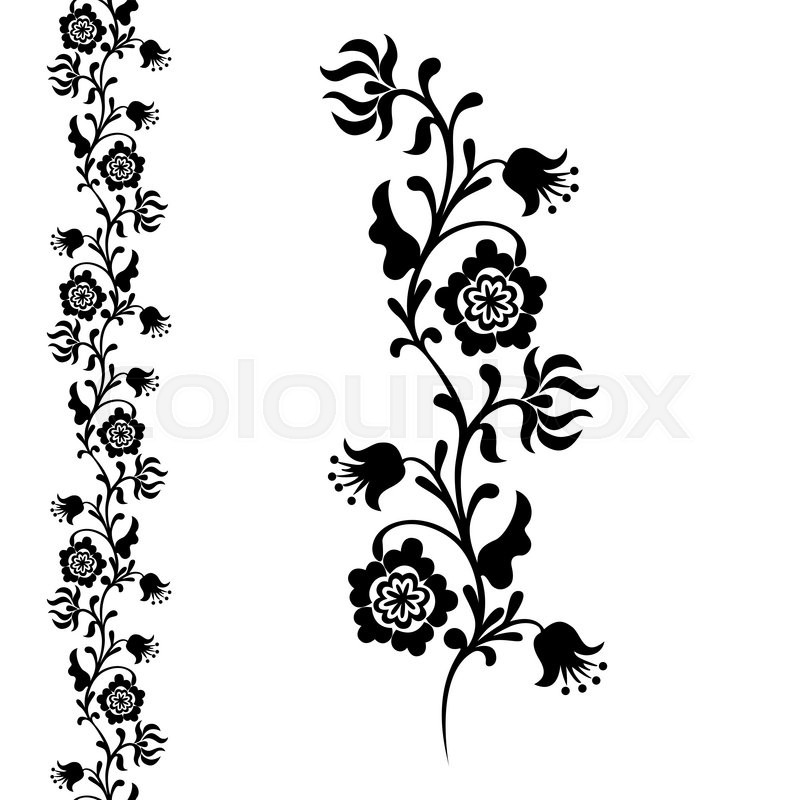 painting closeup fancy flower seamless pattern floral ornament