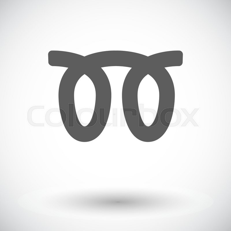 Glow Plug Single Flat Icon On White Background Vector Illustration