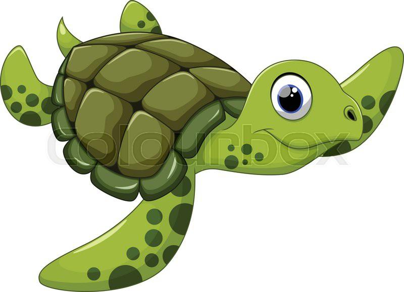 Cute sea turtle cartoon stock vector colourbox - Clipart tortue ...