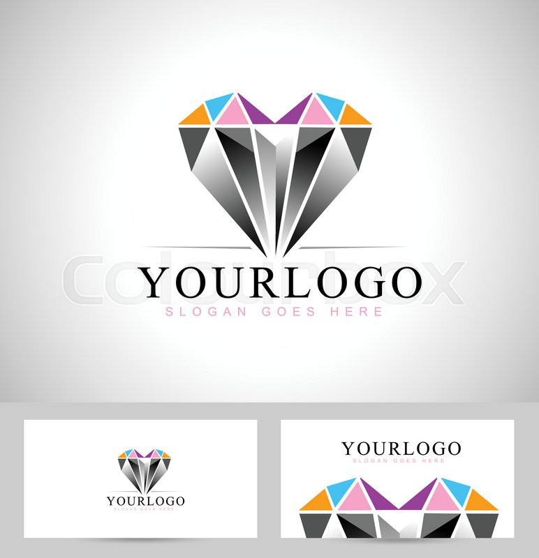diamond vector colourbox logo stock