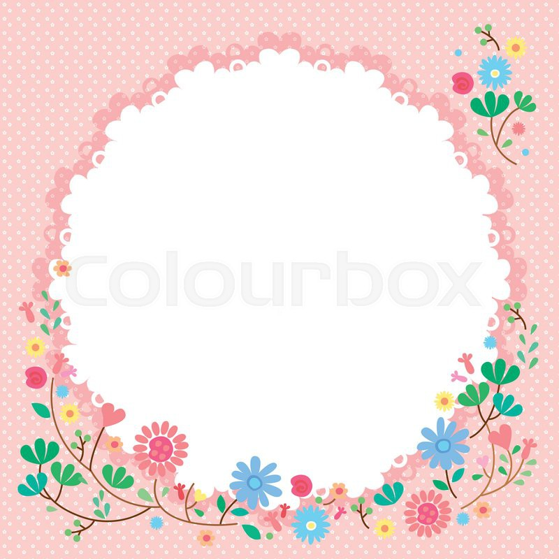 Cute Frame Vector For Decoratetion Flower
