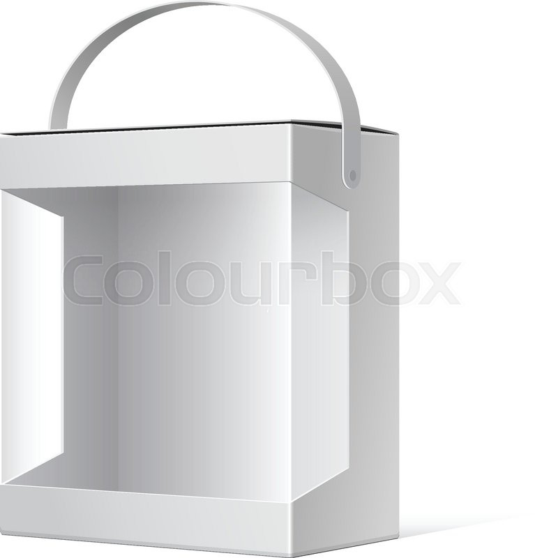 Light Realistic Package Cardboard Box     | Stock vector | Colourbox