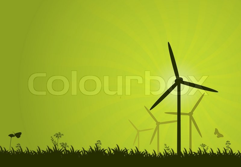 Stock vector of 'wind, technology, green'