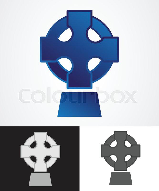 Ancient celtic cross symbol vector illustration stock for Irish mail cart plans