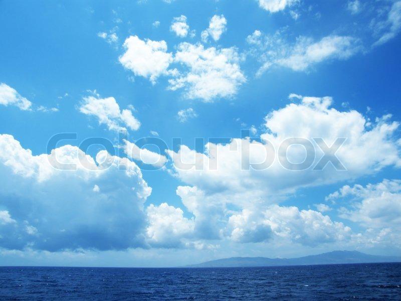Sky Sun Cloud Heaven Background Sea Stock Photo Colourbox