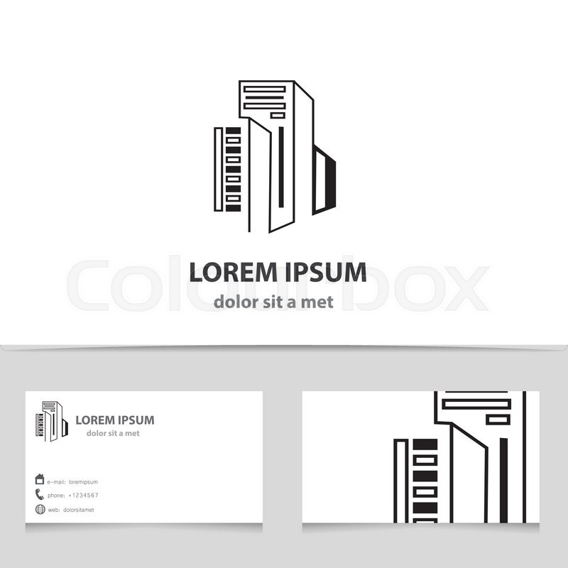 Vector icon building with business card template creative design stock vector of vector icon building with business card template creative design architecture reheart Gallery