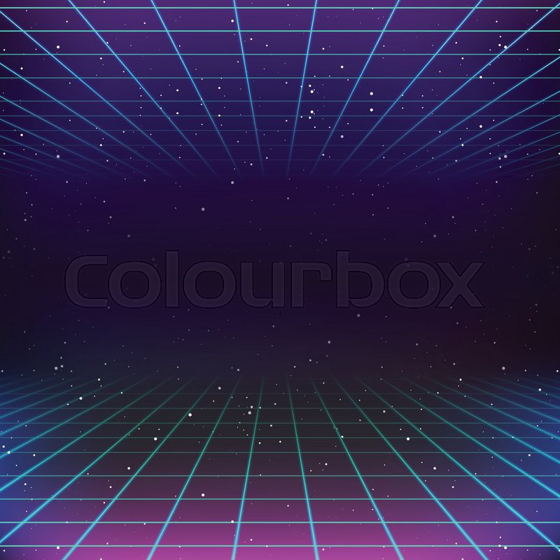 Digitalrevolution Blog Retro Sci Fi: 80s Retro Sci-Fi Background