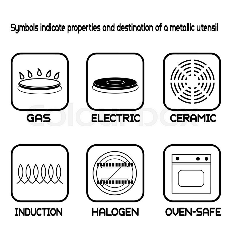 Metallic Tableware Symbols For Food Grade Metal On White Vector