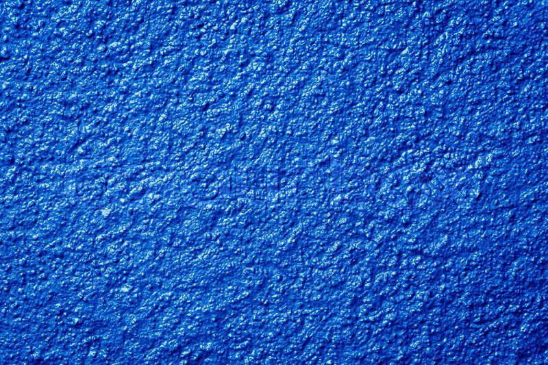 Photo of a grunge blue metallic paint textured backgroundwall