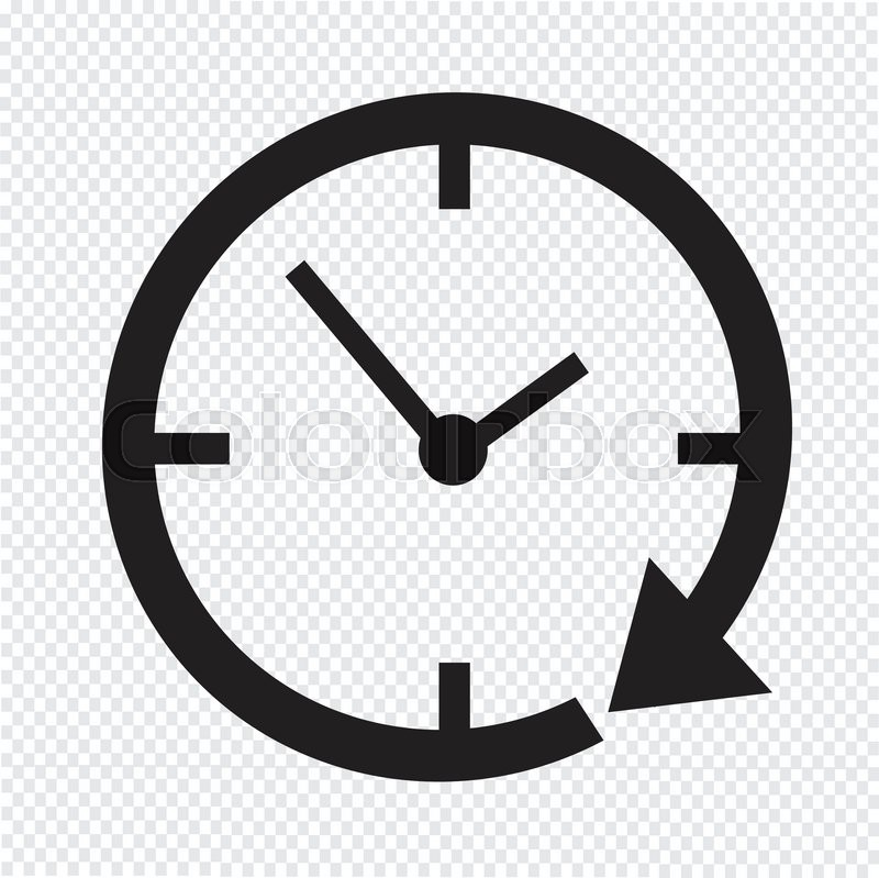 24 hour clock icon stock vector colourbox rh colourbox com alarm clock icon vector clock icon white vector