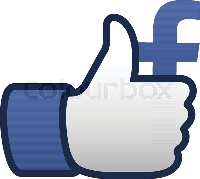Facebook Like Thumbs Up Symbol Icon Vector Illustration Stock
